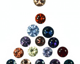 4.40Ct Natural Multi colour spinel 3.50mm round parcel Myanmar