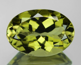 4.80 Cts UN HEATED GREEN COLOR NATURAL TOURMALINE LOOSE GEMSTONE
