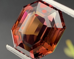 FLAWLESS 12.10 Carats Cut By a Professional Red Purple Natural Tourmaline
