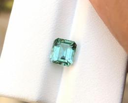 1.60 Ct Natural Blueish Green Transparent Tourmaline Gemstone