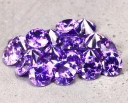 Amethyst 6.20Ct 20Pcs Natural Uruguay VVS Electric Purple Amethyst D2232