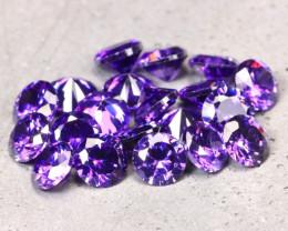 Amethyst 6.36Ct 20Pcs Natural Uruguay VVS Electric Purple Amethyst D2233