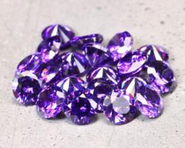 Amethyst 6.20Ct 20Pcs Natural Uruguay VVS Electric Purple Amethyst D2234