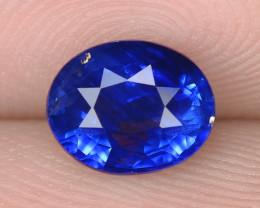 1.01 Cts IGI Certified Natural Blue Oval Cut Ceylon Sapphire Loose Gemstone