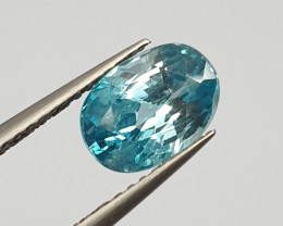 3.2 ct Blue Zircon Oval 8.9x6.4mm(SKU 94)