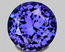 Flawless, precision custom cut natural blue tanzanite.