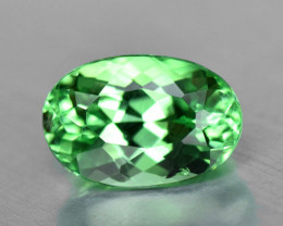 Precision cut, natural vivid green tsavorite garnet.