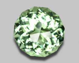 Precision cut, flawless natural green amethyst.