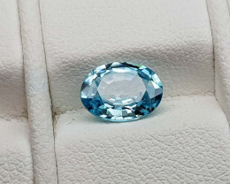 1.45Crt Blue Zircon Natural Gemstones JI74