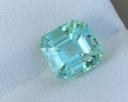 Sea Foam Colour 2.44 Carats Natural Color Tourmaline Gemstone From AFGHANIS