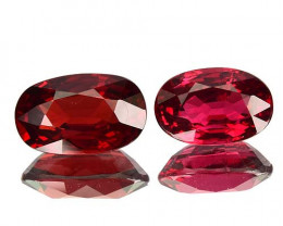 1.95 Cts Natural Red Spinel Mogok 2 Pcs (Video Avail)