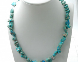192cts Fashion Natural Turquoise Necklace,Beautiful Turquoise Jewelry E891