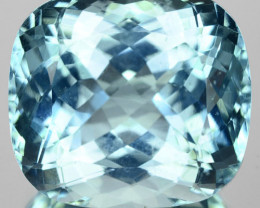 26.17 Cts Natural Unheated Blue Aquamarine Cushion Faceted Gem