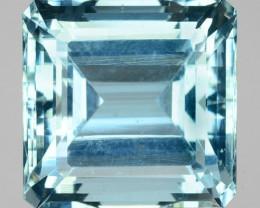 14.98 Cts Natural Unheated Blue Aquamarine Square  Cut India Gem