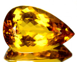 ~BIG~ 53.09 Cts Beautiful Rare Natural Beryl Golden Yellow Pear Cut Brazil