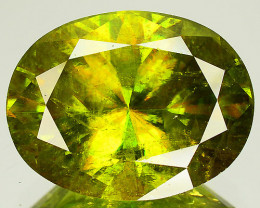10.95 Cts GENUINE NATURAL LUSTROUS FINE GRADE NEON GREEN SPHENE