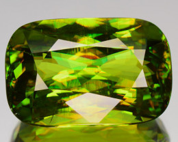 12.37 Cts Natural Green Sphene Russia (Video Avail)