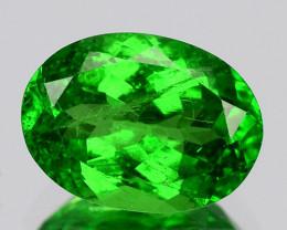 1.26 Cts Natural Green Tsavorite Garnet Kenya (Video Avl)