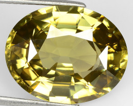 25.24 Cts Natural Unheated Zircon Sparkle Honey Yellow Oval Faceted Cambodi