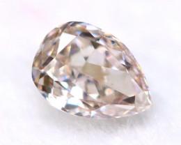 Brownish Pink Diamond 3.20mm Natural Untreated Fancy Pink Diamond B2312