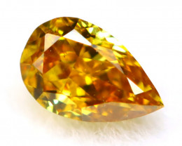 Orange Yellow Diamond 3.49mm Natural Untreated Fancy Color Diamond B2328