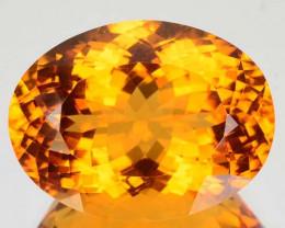 27.31 Cts Unheated Natural AAA Golden Orange Citrine Oval Cut Brazil (Vdo A