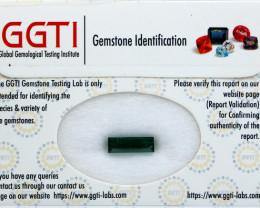 GGTI-Certified-2.70 ct Green Tourmaline Gemstone Natural