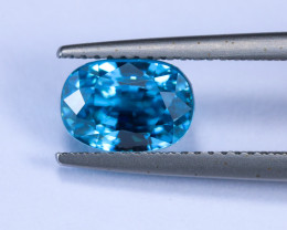 4.15ct Lab Certified Blue Zircon