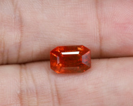 **Vivid Orange** 4.15ct Lab Certified Sapphire