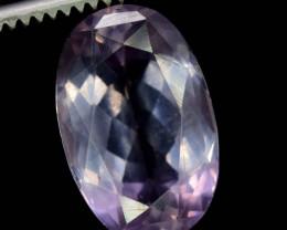7 Carats Oval Cut Rare Salt Purple Color Natural Apatite Gemstone