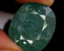 18.60 Carats Oval Cut Natural Rarest Pastel Mint Green Color GRANDIDERITE G
