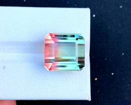 16.30 Carats  Bi-Color Green And pick Tourmaline