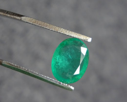 2.03ct SI green Emerald Cert. - oiled