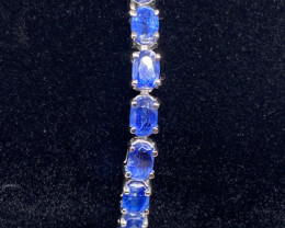 (LBA) Delightful Nat 55 tcw. Natural Blue Kyanite Bracelet