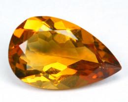 3.08 Cts Natural Golden Orange Citrine Pear Cut Brazil