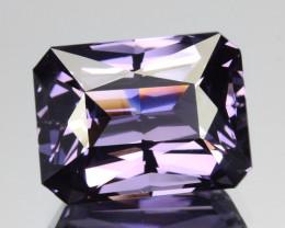 3.44 Cts Beautiful Natural Purple Spinel Emerald Cut Srilanka Gem