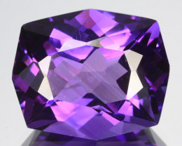 12.02 Cts Gorgeous Natural Purple Amethyst-Prasiolite-Cushion Custom Cut