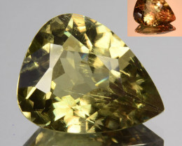 7.00 Cts Natural Rarest Color Change Diaspore Pear Cut Turkey