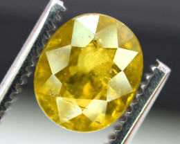 3.40 carats AAA Color Full Fire Mossy Green Sparkles Natural Chrome Sphene