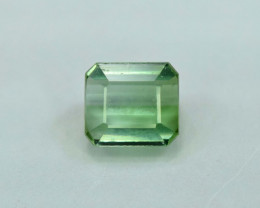 1.15 Carats Emerald Cut Teal Green Color Jaba Mine Afghanistan Tourmaline G