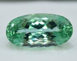 39.60 Carats Oval Cut Green Spodumene Gemstone From Afghanistan