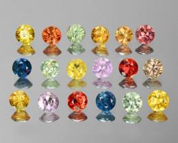 18 Pcs 2.41 Cts Fancy Colors Natural Sapphire Gemstones