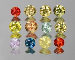 12 Pcs 2.23 Cts Fancy Colors Natural Sapphire Gemstones