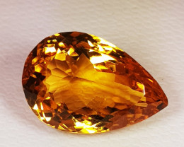 8.92 ct Top Quality Stunning Oval Cut Golden Orange Natural Citrine