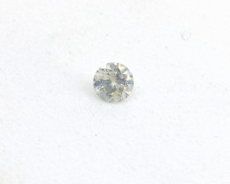 0.18ct Faint Green Diamond , 100% Natural Untreate