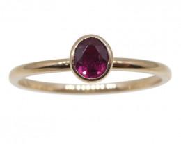 Ruby Stacker Ring set in 10kt Pink/Rose Gold