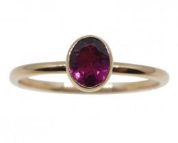 Pink Tourmaline Stacker Ring set in 10kt Pink/Rose Gold