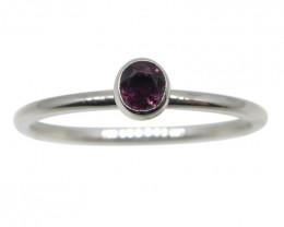 Ruby Stacker Ring set in 10kt White Gold