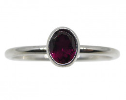 Tourmaline Stacker Ring set in 10kt White Gold