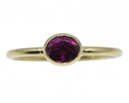 Tourmaline Stacker Ring set in 10kt Yellow Gold